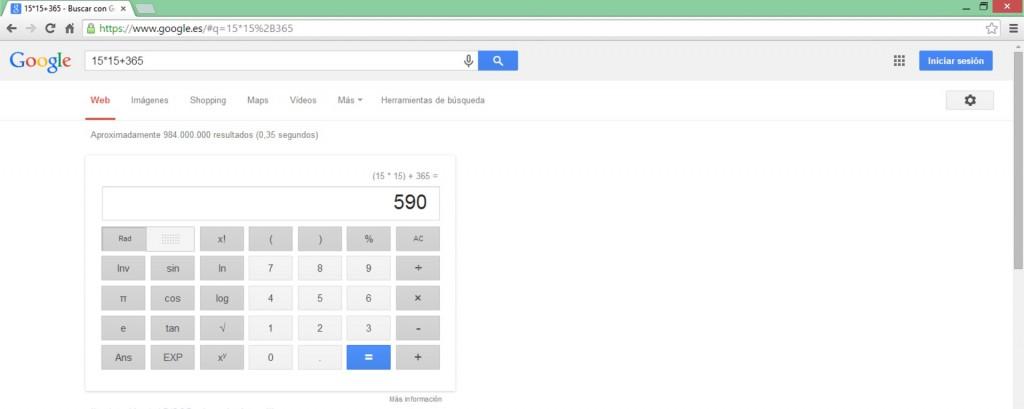Realizar una operación - Google Tips - Bee Ingenious