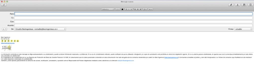 firma en el mail AppleMail BeeIngenious