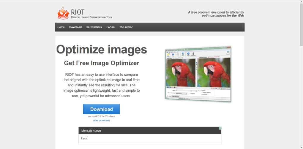 riot bee ingenious cómo optimizar imágenes