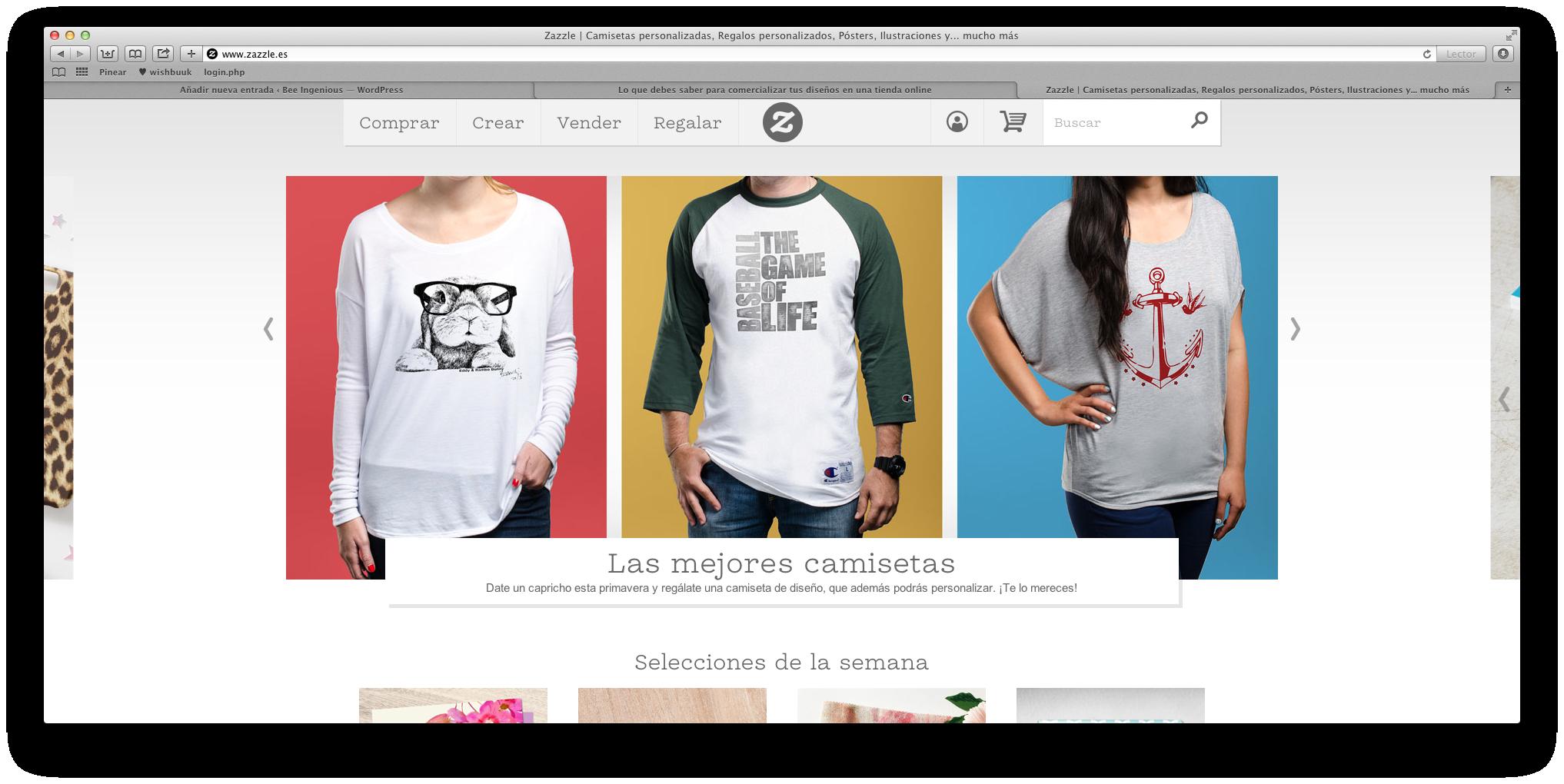 Cómo ganar dinero en internet  vender productos con tus diseños ... 640c9982dd390