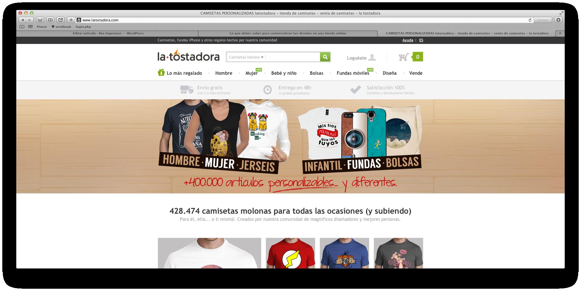 La Tostadora  desde esta página podrás vender sólo en España y Europa f8135d049943e