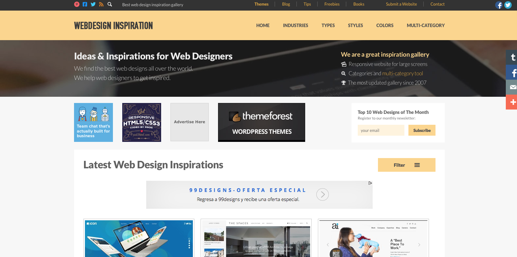 Inspiración para emprendedores Web design inspiration  bee ingenious
